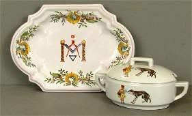Two Russian Porcelain Serving Articles