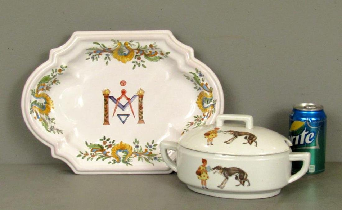 Two Russian Porcelain Serving Articles - 2