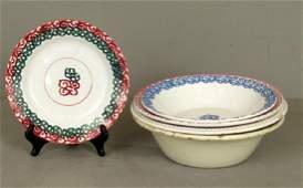 5 Russian Ceramic Bowls
