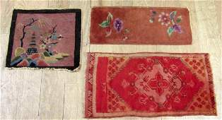 3 Small Chinese and Oriental Rugs