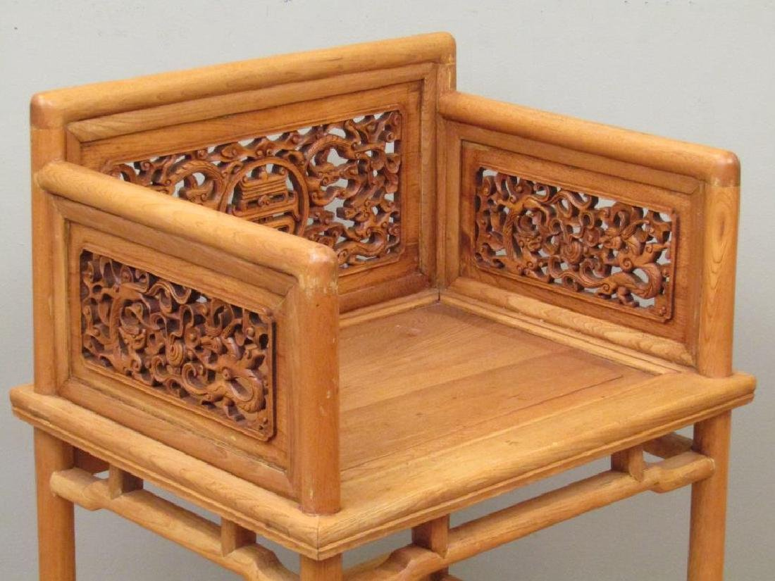 Pair Chinese Low Arm Chairs - 3