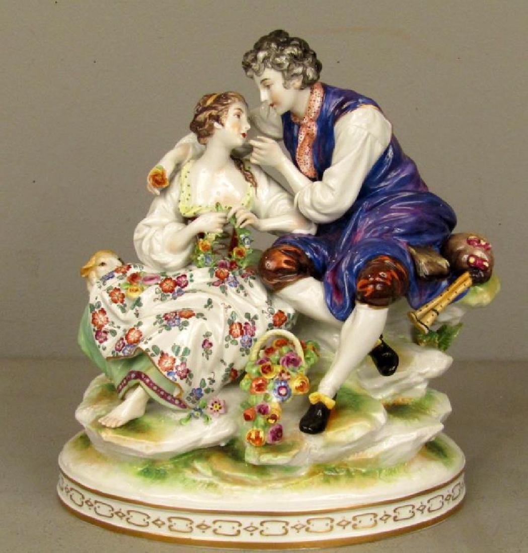 Vienna Porcelain Group - Courting Couple