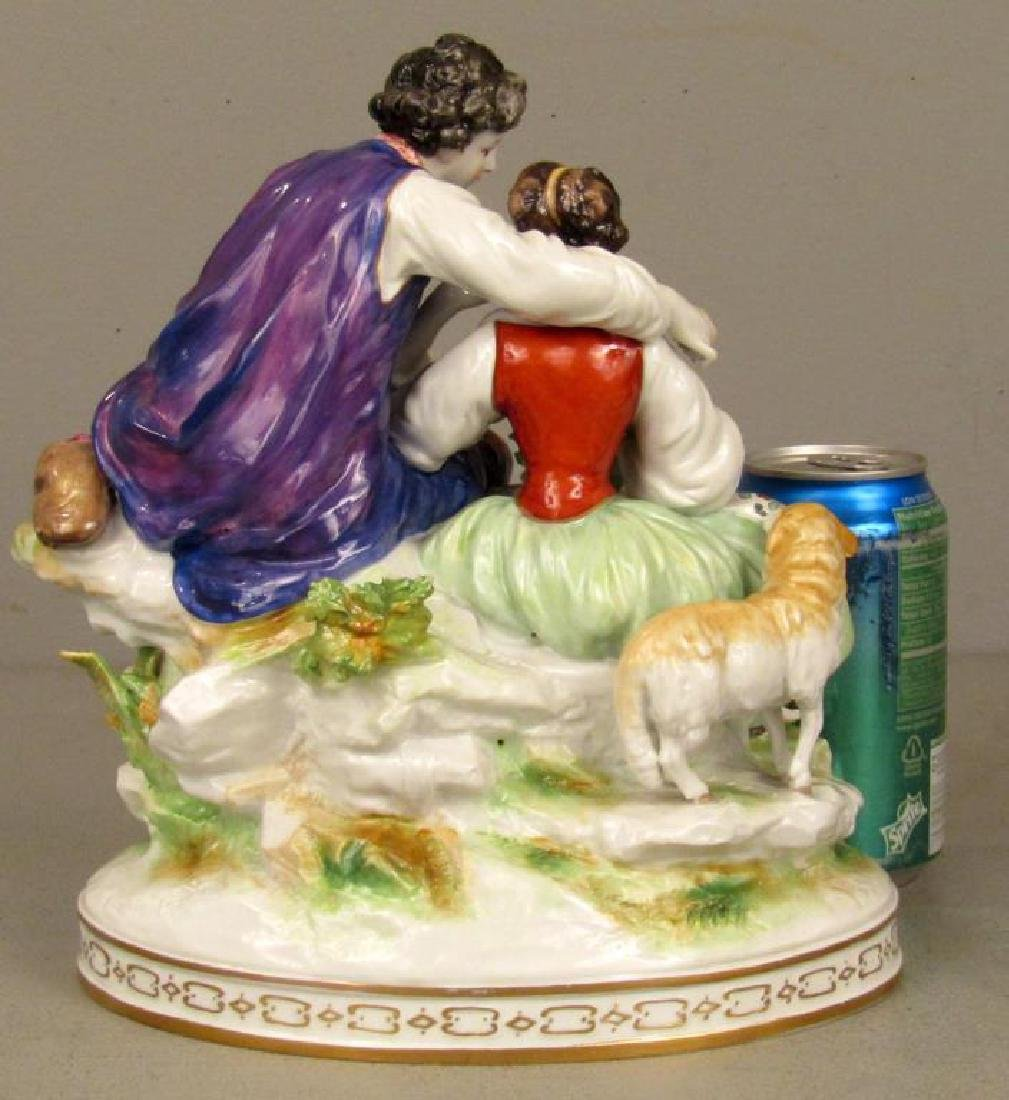 Vienna Porcelain Group - Courting Couple - 2