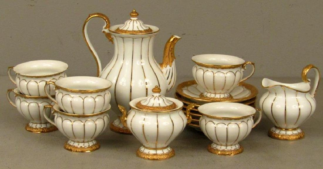 15 Piece Meissen Porcelain Tea Set