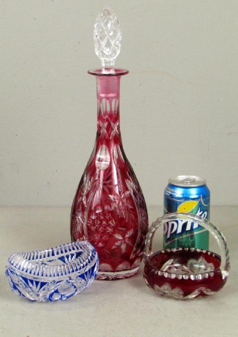 3 Cut Glass Articles - 2