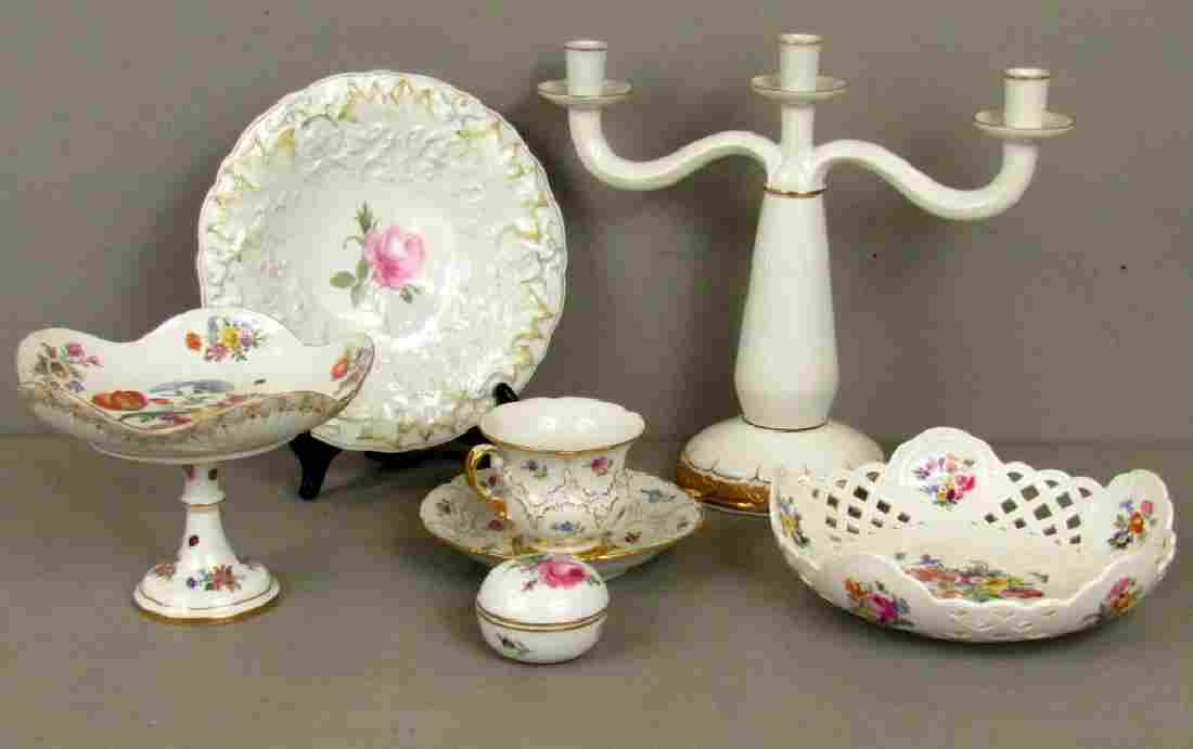 Assorted Meissen Porcelain Articles