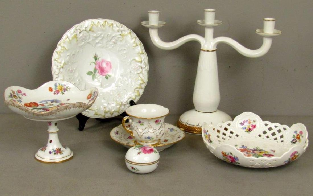 Assorted Meissen Porcelain Articles