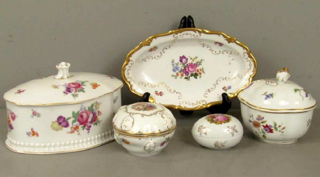 5 Assorted Porcelain Articles