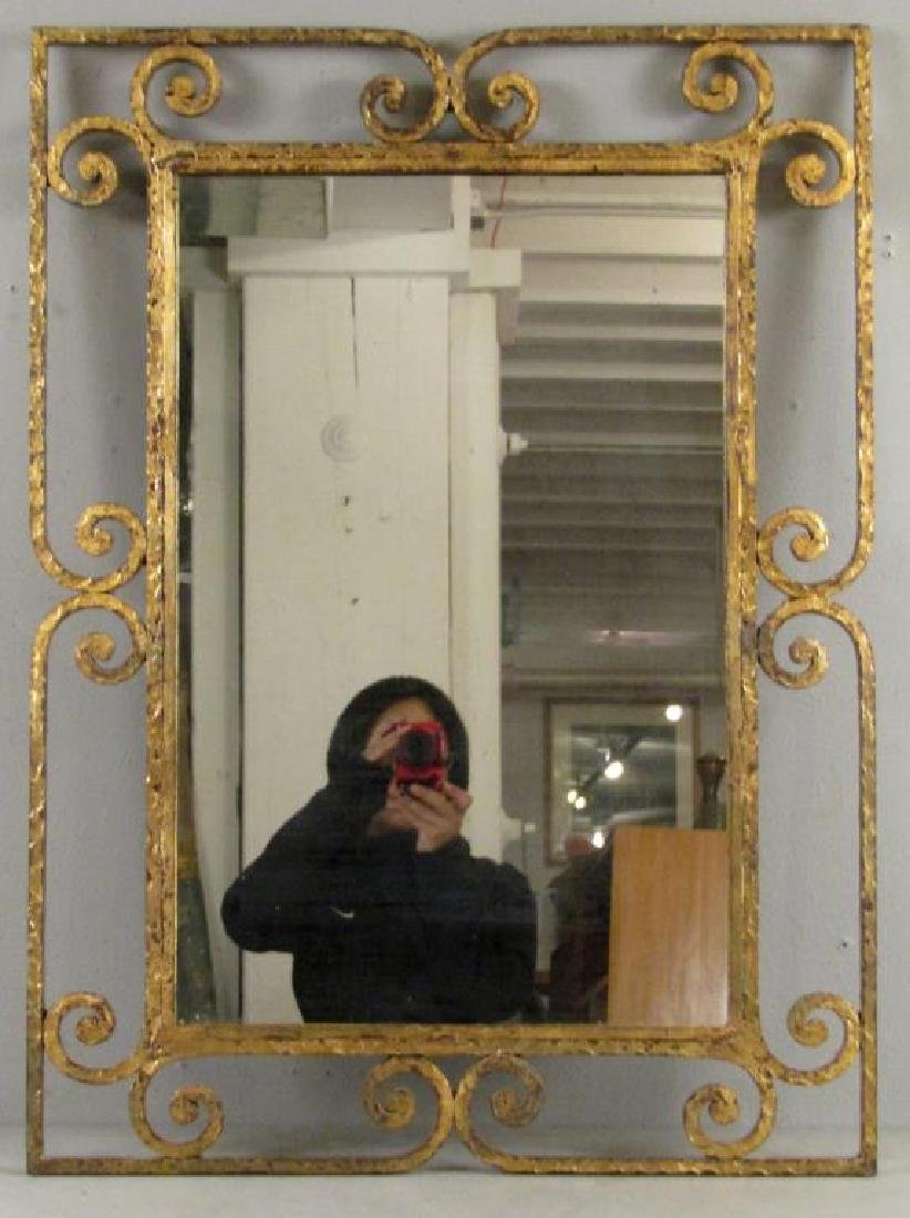 Mid Century Gilt Iron Mirror