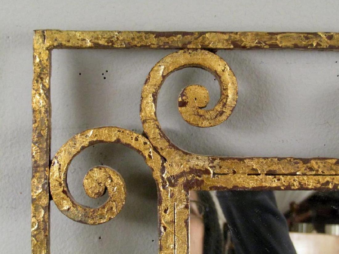 Mid Century Gilt Iron Mirror - 2