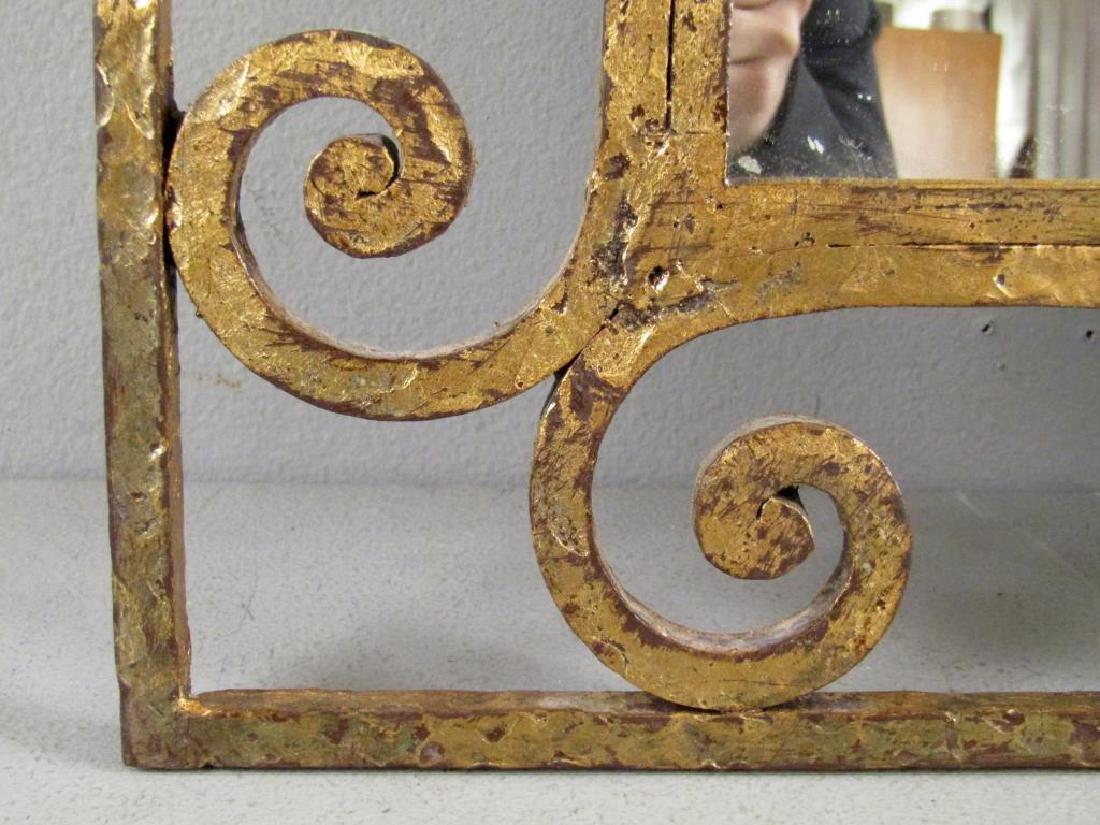 Mid Century Gilt Iron Mirror - 3