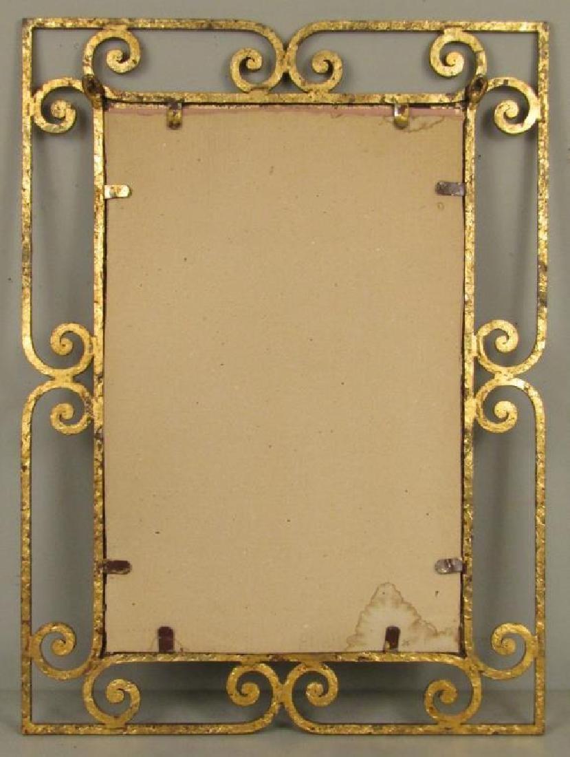 Mid Century Gilt Iron Mirror - 4