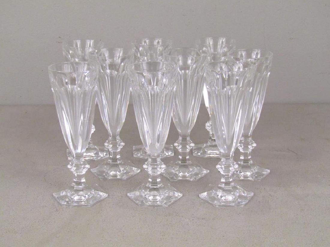 Set of 9 Baccarat Wine Glasses **