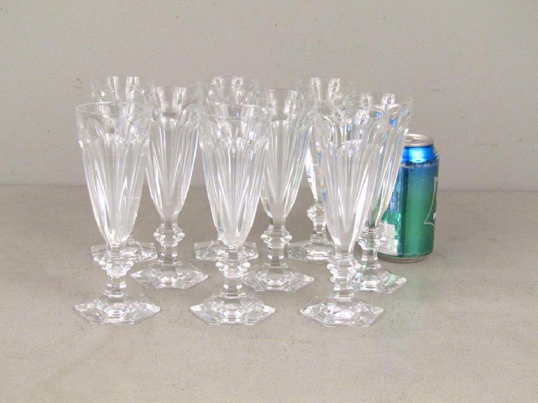 Set of 9 Baccarat Wine Glasses ** - 2