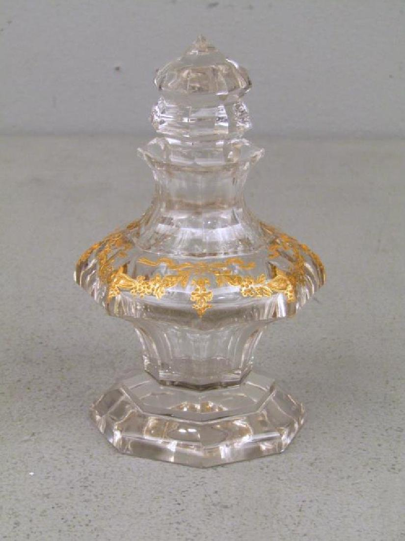Glass Bottle Attributed to Baccarat