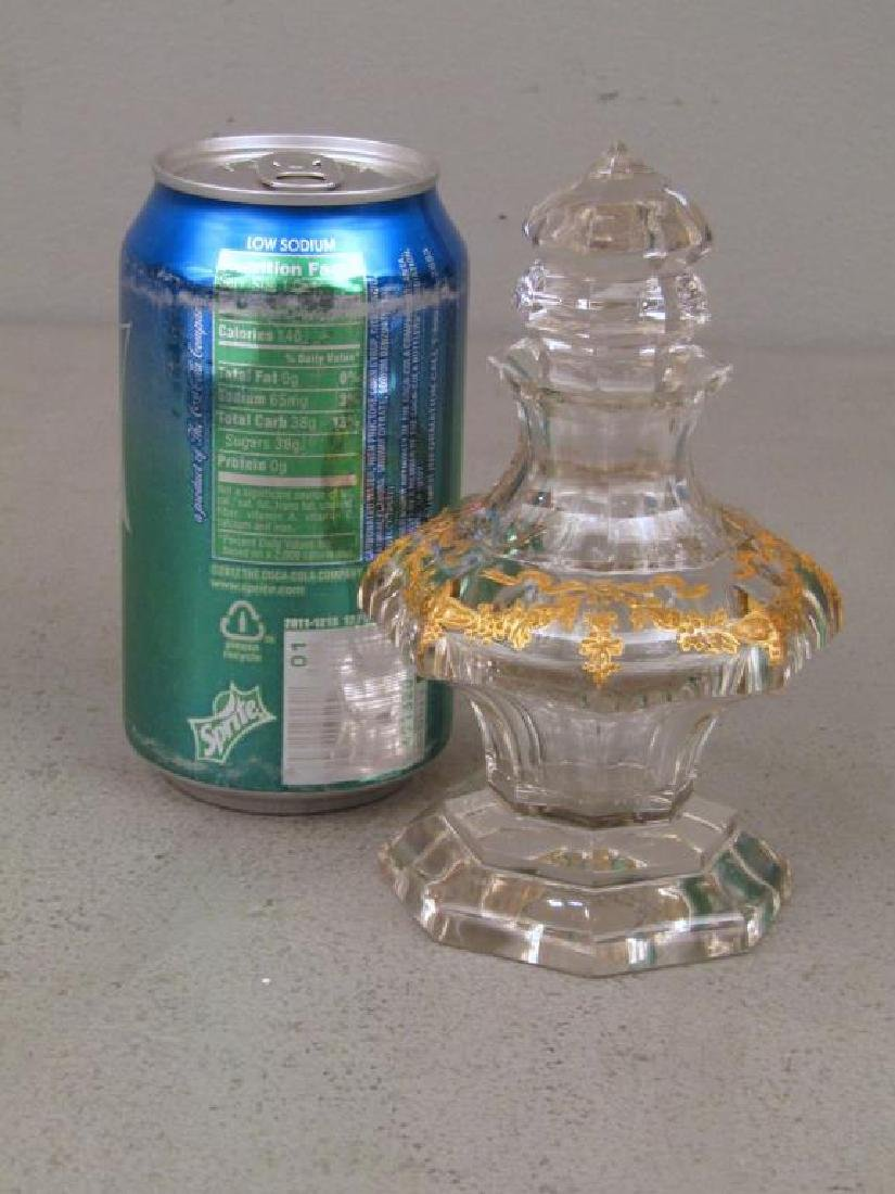 Glass Bottle Attributed to Baccarat - 2