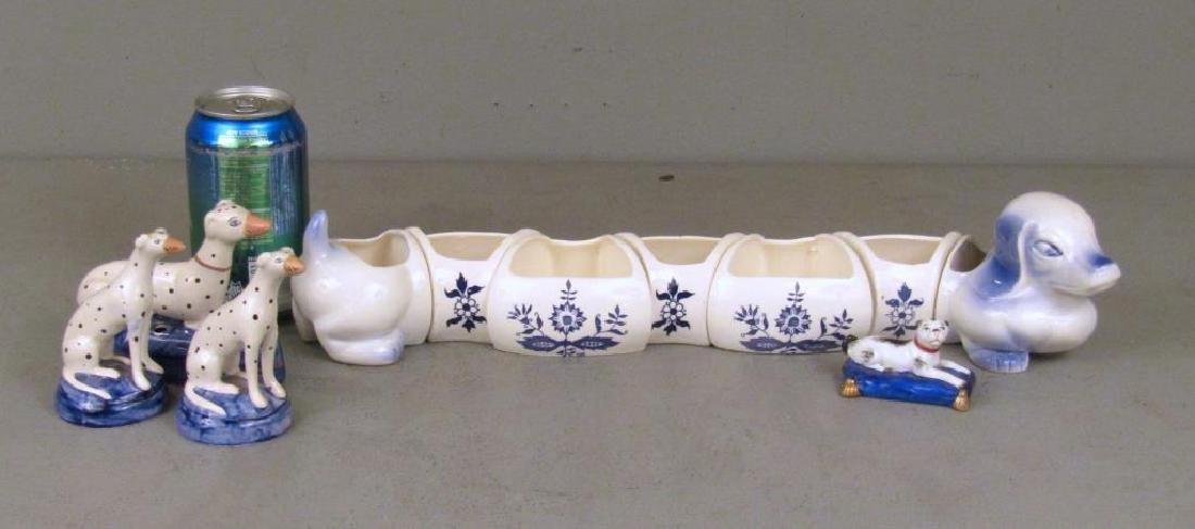 Porcelain Dog Figures - 2