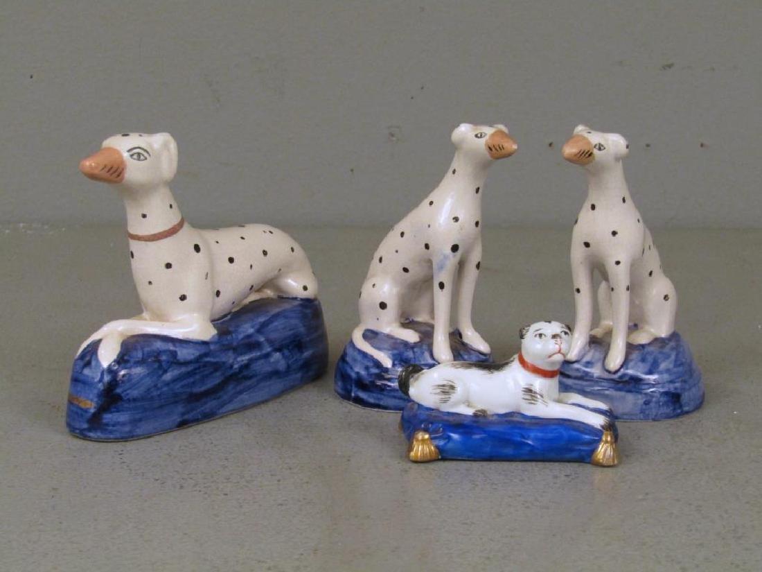 Porcelain Dog Figures - 3