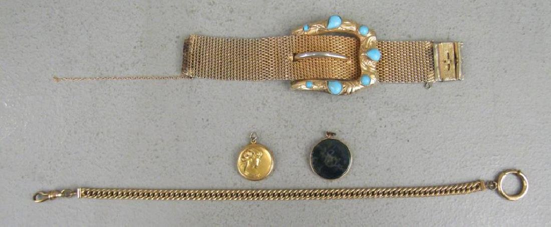 4 Articles of Gold Filled Jewelry
