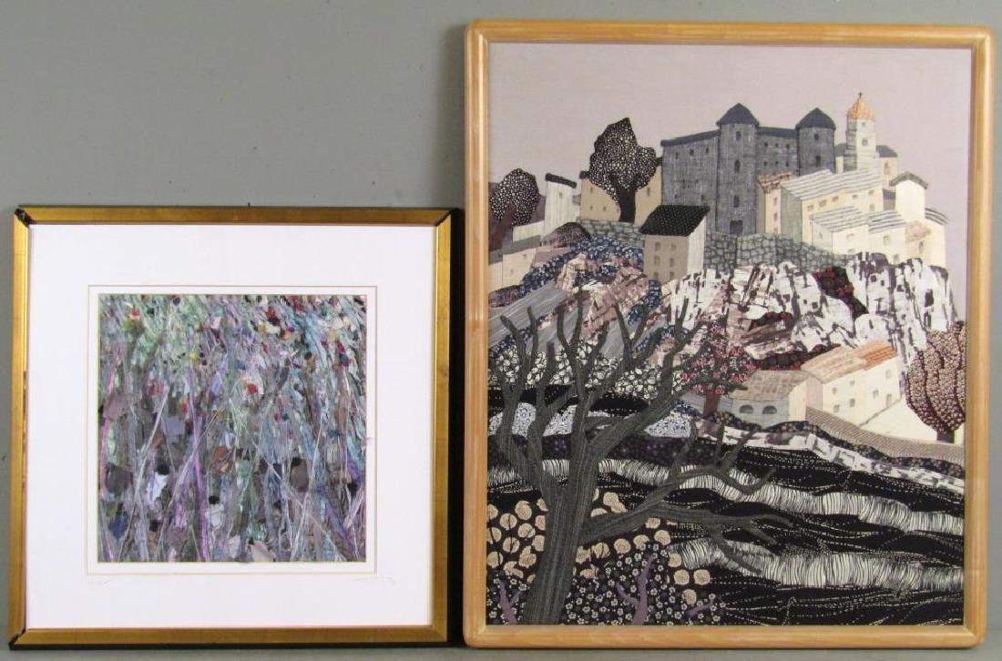 2 Textile / Fabric Mixed Media Artworks