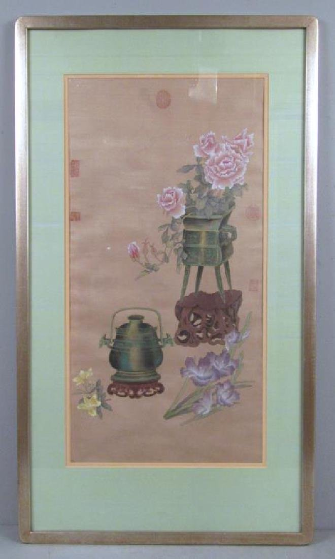 Chinese Painted Silk Panel - 2