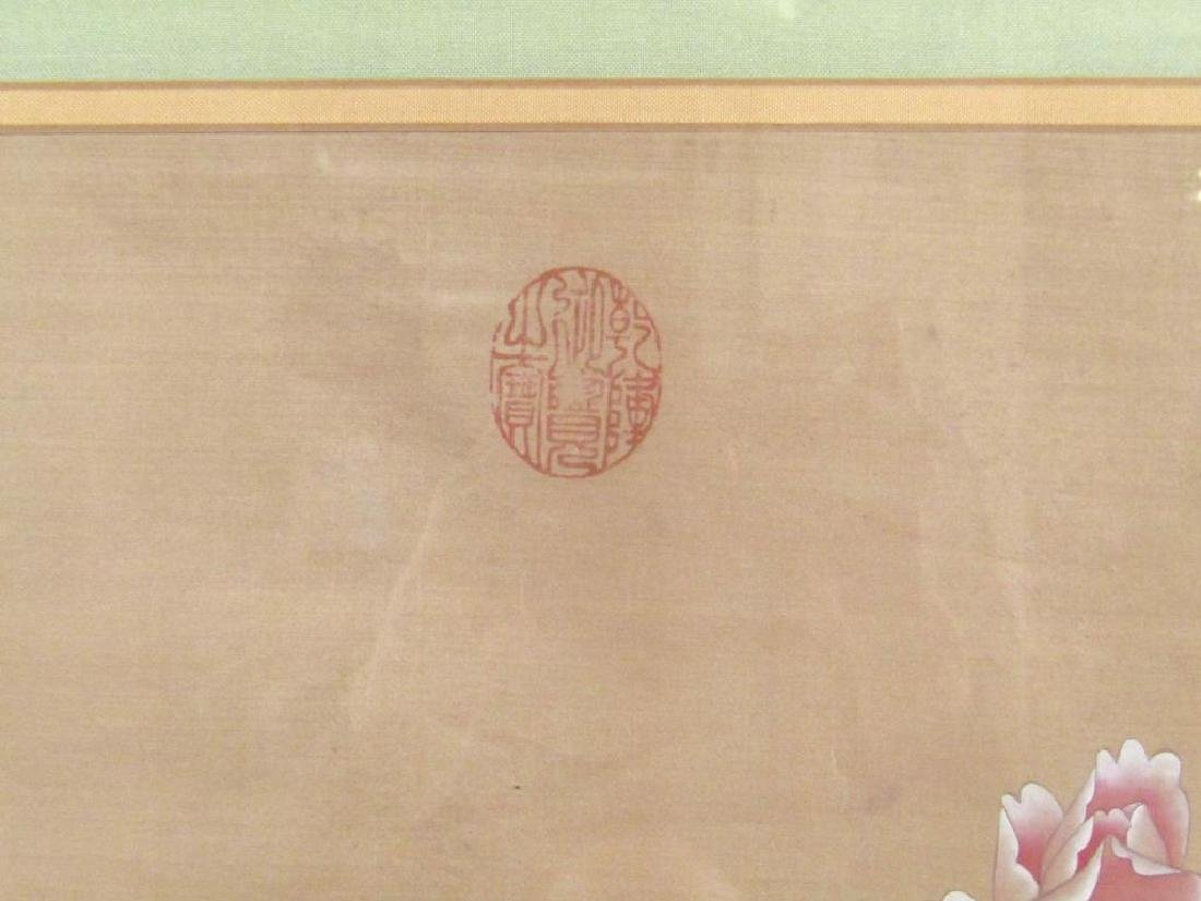 Chinese Painted Silk Panel - 3
