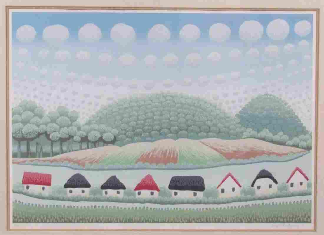 Ivan Rabuzin (Croatian 1921 - 2008 - Lithograph **
