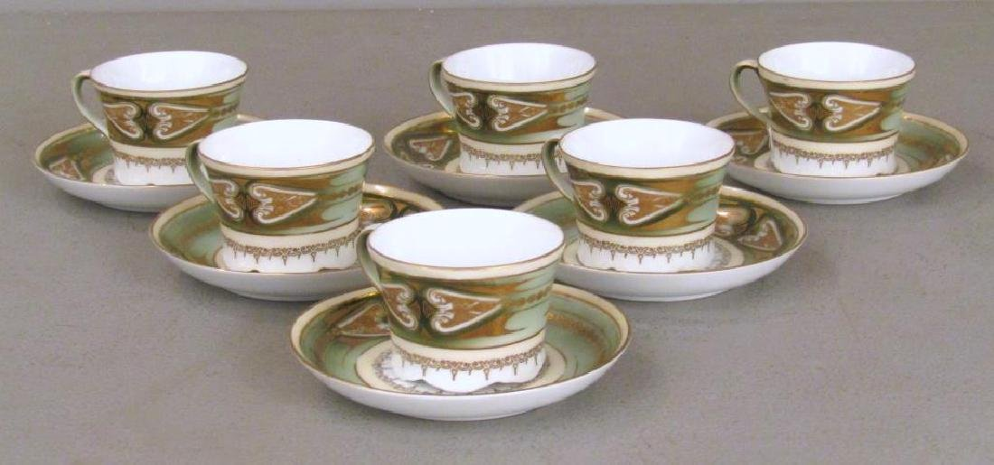 Set of 6 Russian Porcelain Cups and Saucers