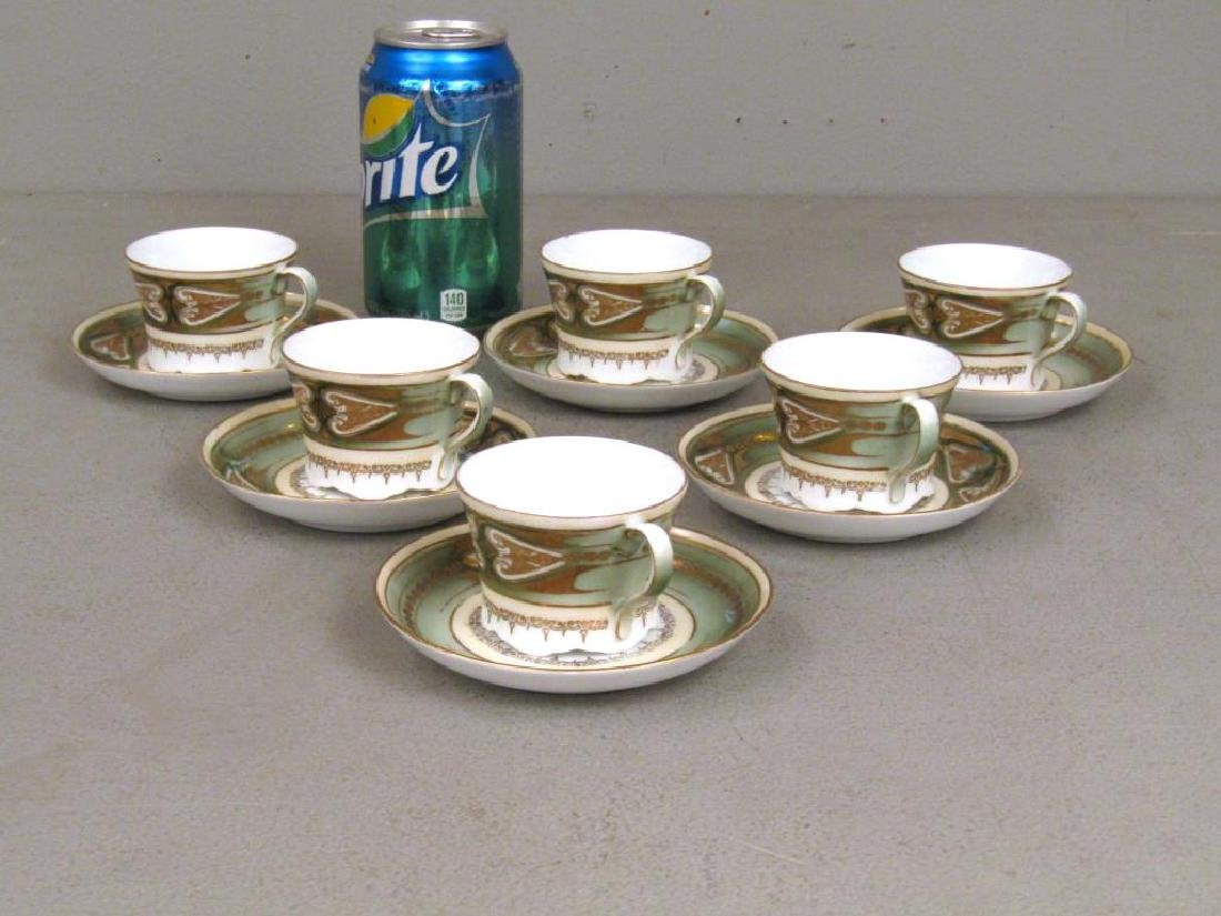 Set of 6 Russian Porcelain Cups and Saucers - 2