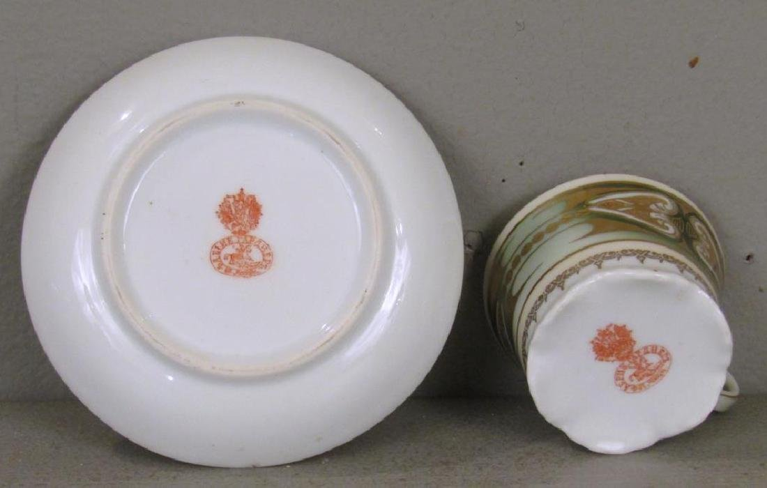 Set of 6 Russian Porcelain Cups and Saucers - 4