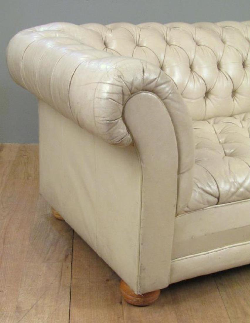 Chesterfield Tan Leather Sofa - 3