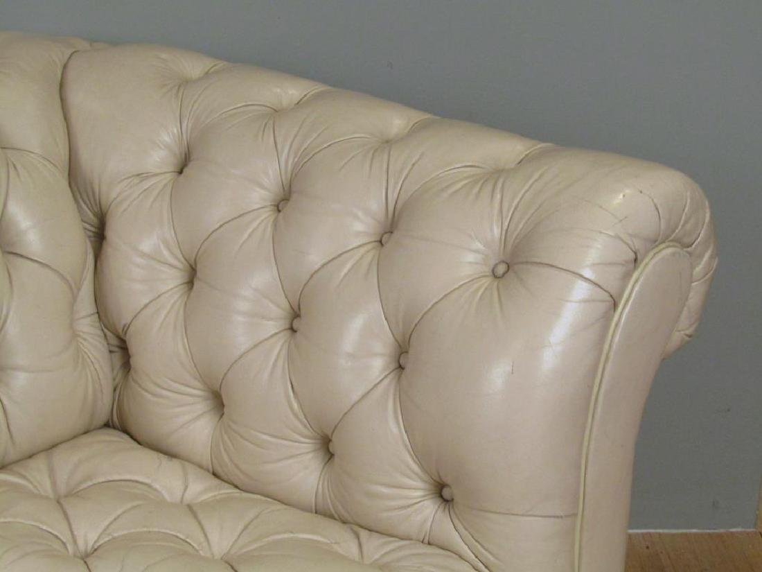 Chesterfield Tan Leather Sofa - 4