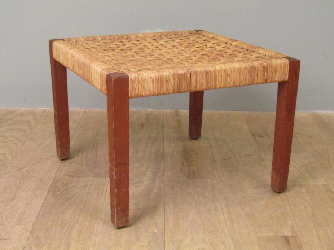 Danish Modern Style Woven Seat Bench