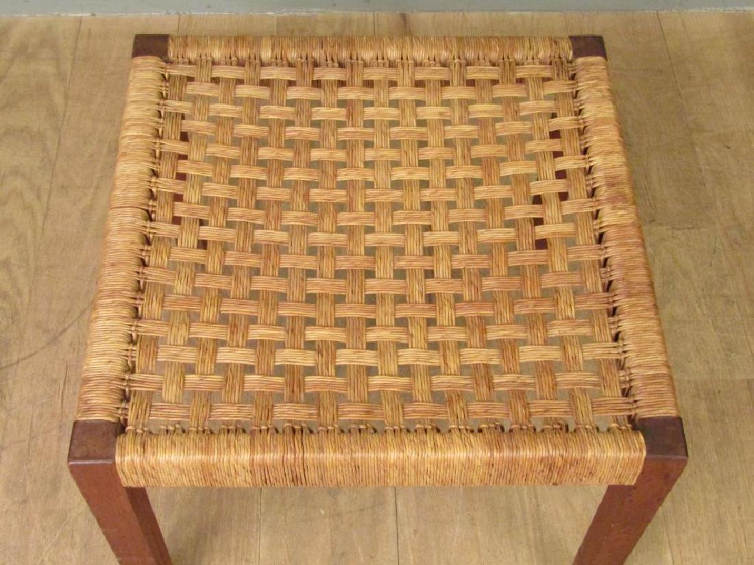 Danish Modern Style Woven Seat Bench - 2