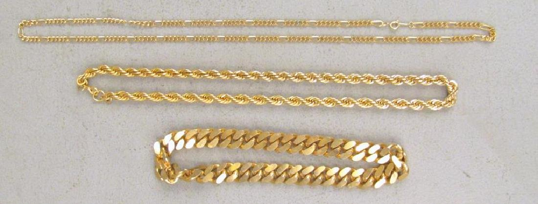 3 Gold Tone Jewelry Articles