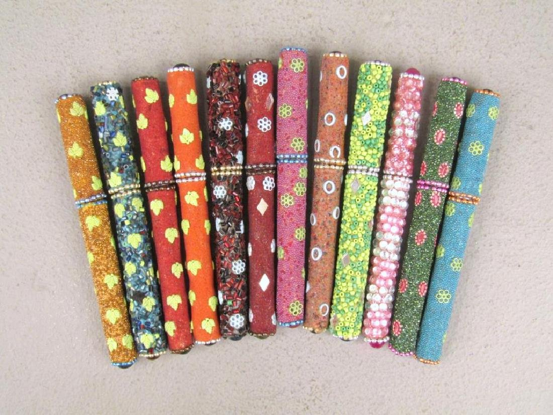 Set of 12 Jeweled Ball Point Pens
