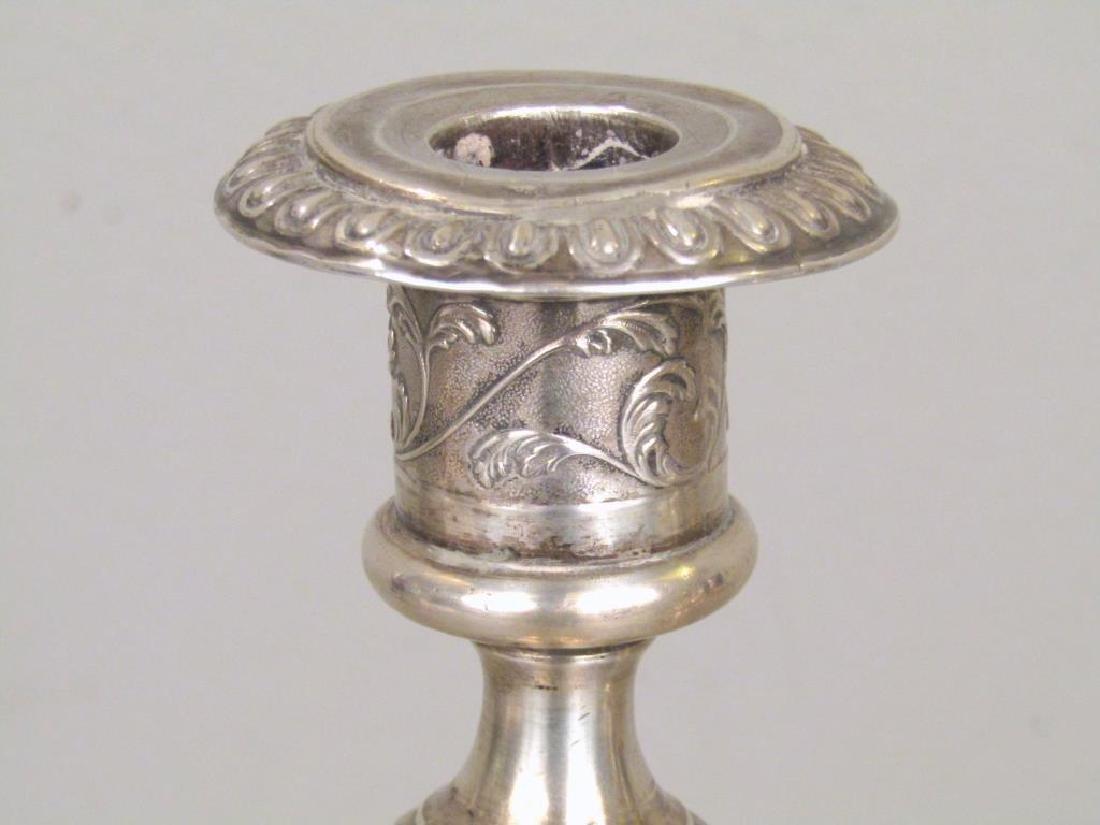 Set of 3 Russian Silver Candlesticks *** - 3