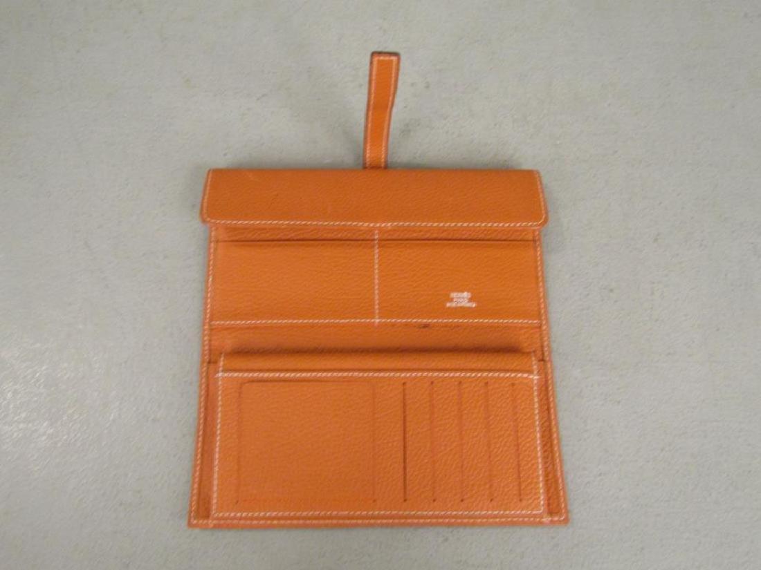 Hermes Orange Leather Wallet - 2