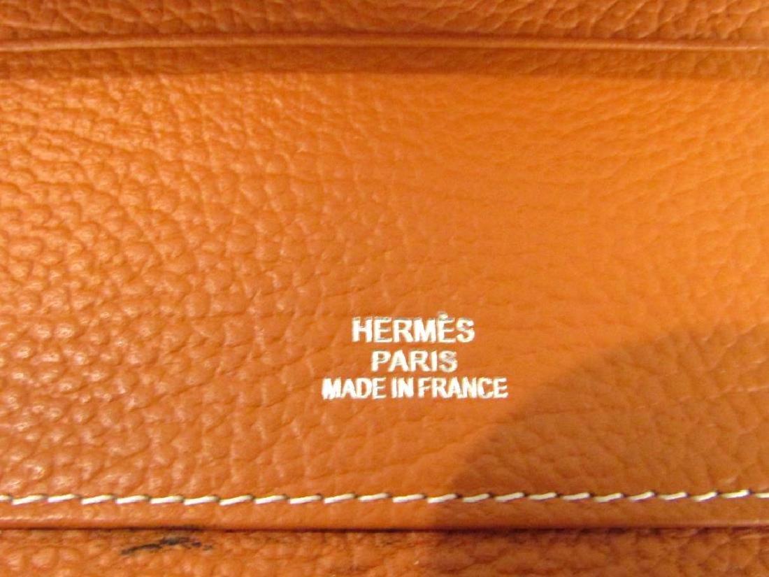 Hermes Orange Leather Wallet - 4