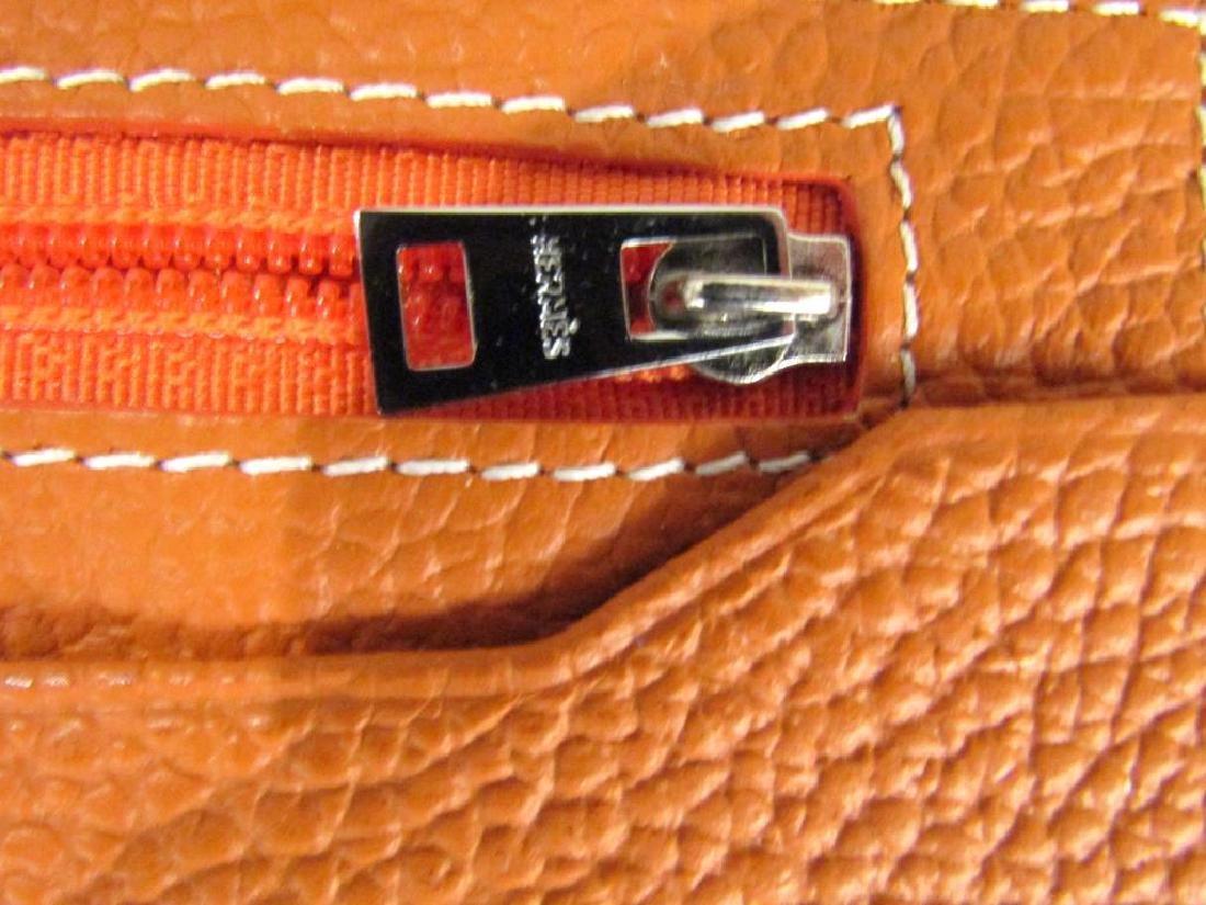 Hermes Orange Leather Wallet - 5