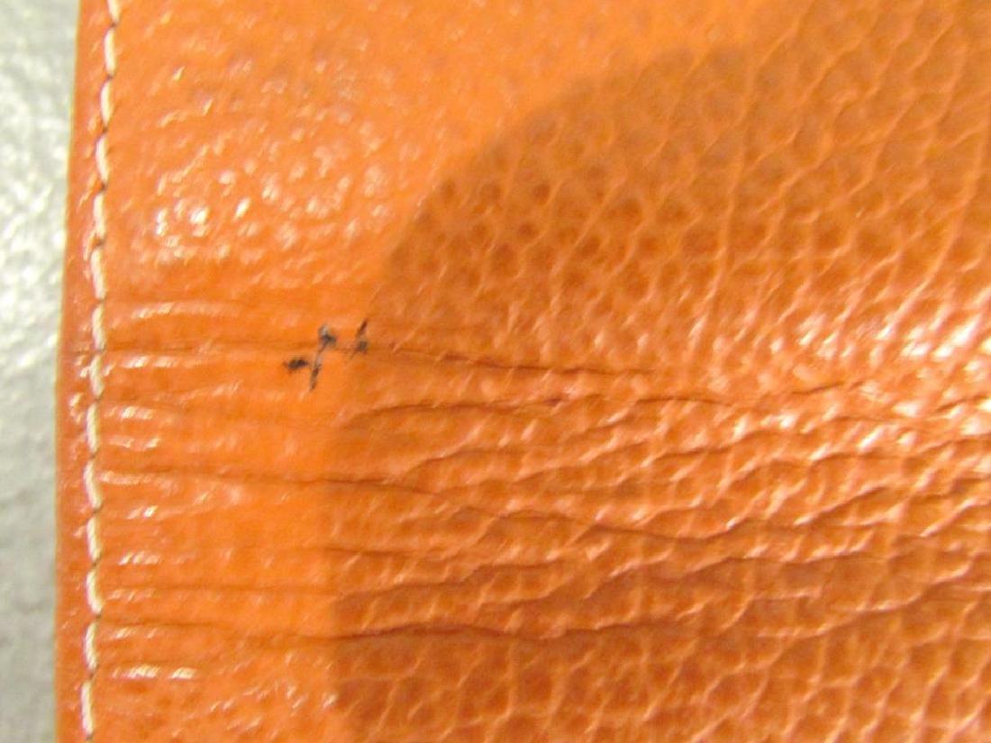Hermes Orange Leather Wallet - 6