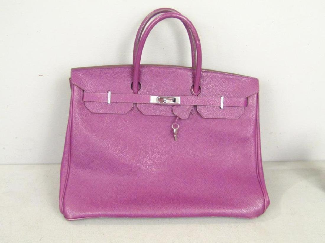 Hermes (?) Purple Leather Candy Bag