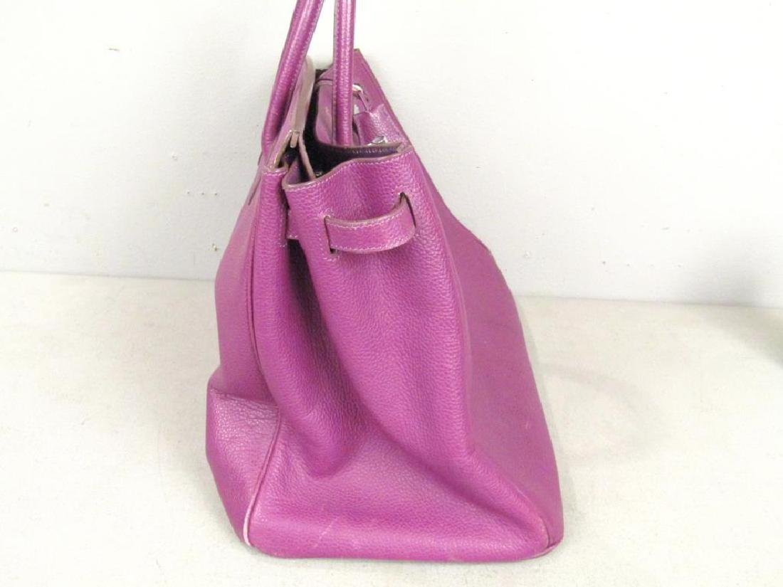 Hermes (?) Purple Leather Candy Bag - 8