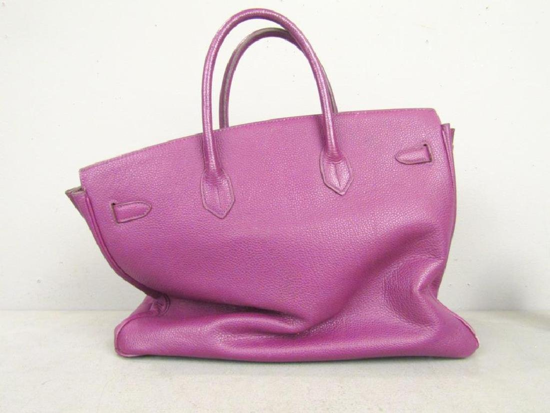 Hermes (?) Purple Leather Candy Bag - 9