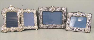 4 English Silver Picture Frames