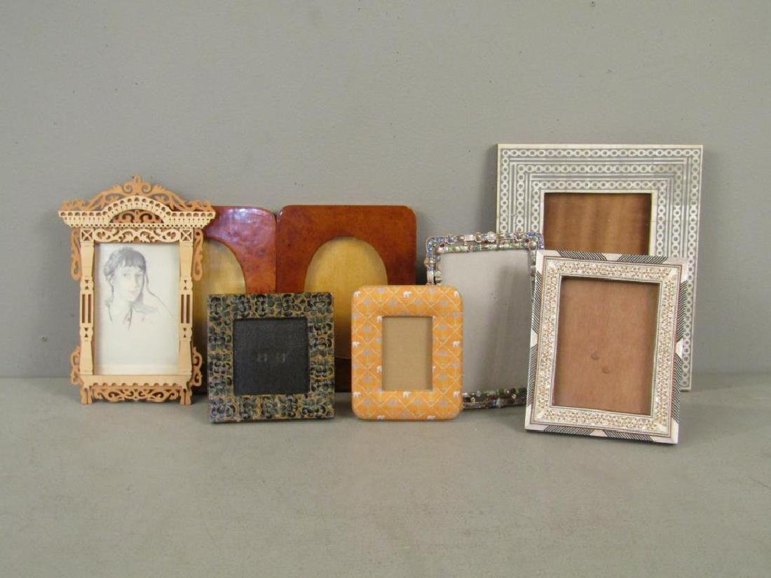 8 Assorted Picture Frames