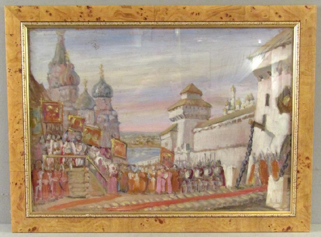Unsigned - Russian Oil on Artist Board - 2