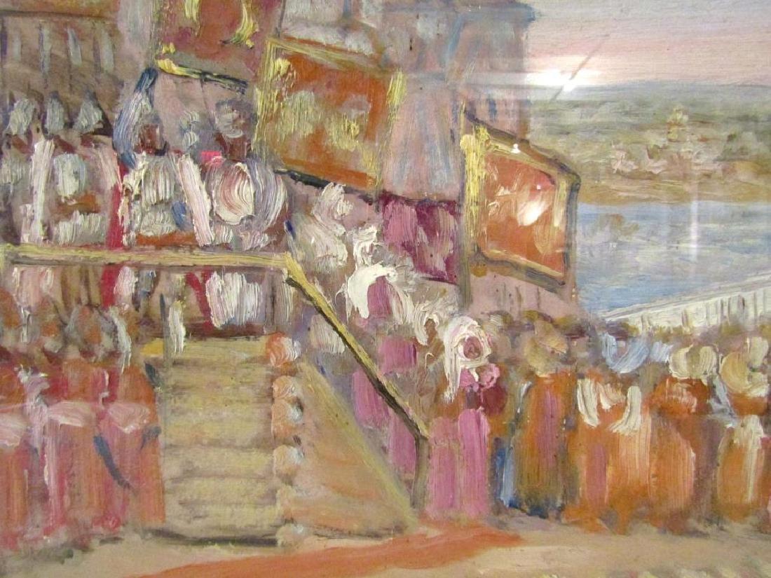 Unsigned - Russian Oil on Artist Board - 4