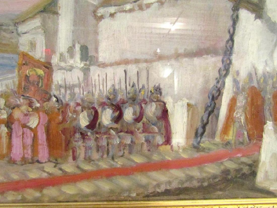 Unsigned - Russian Oil on Artist Board - 5