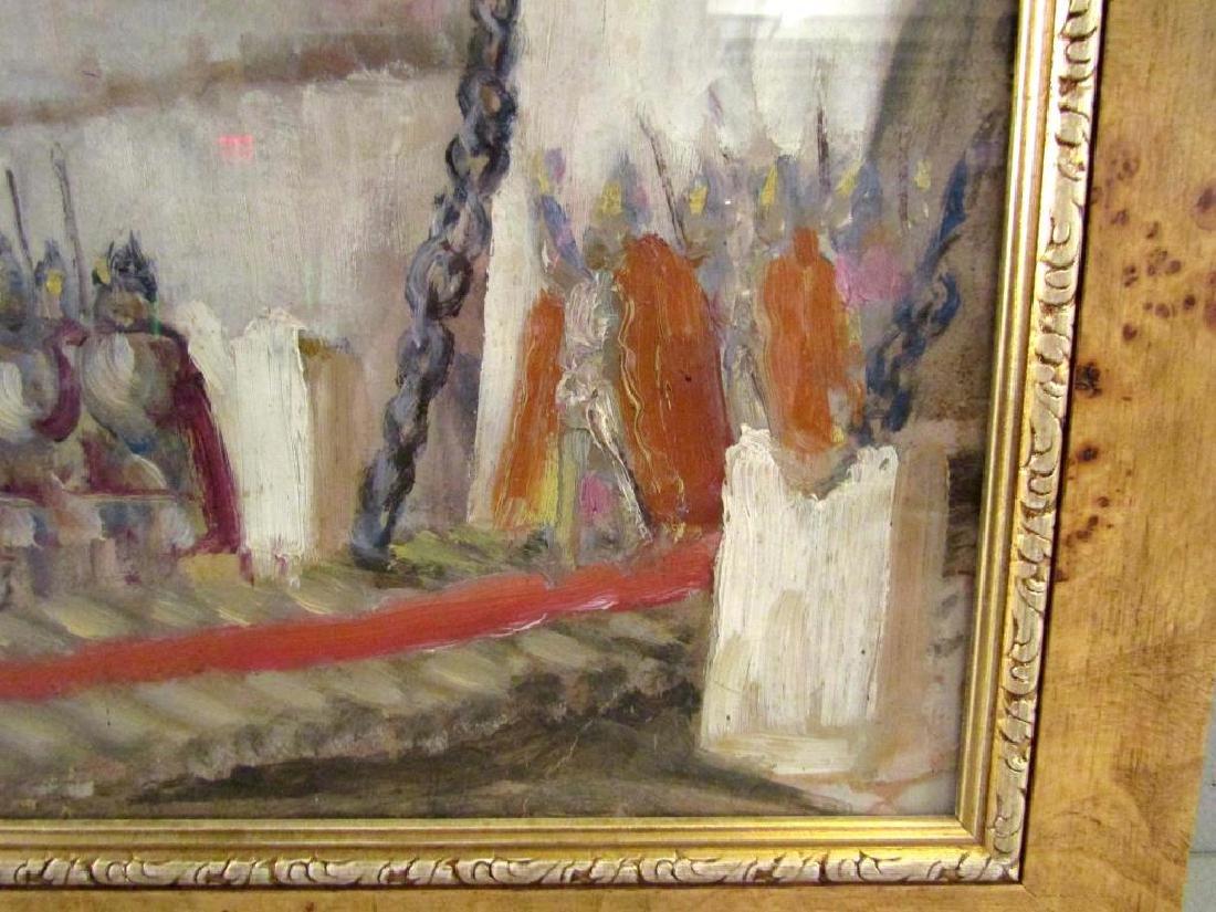Unsigned - Russian Oil on Artist Board - 6